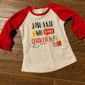 boutique Shirts & Tops - New Boutique Chick-fil-A long sleeve shirt -